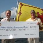 Rotary Bursary Endowment Fund Donation August 3, 2011