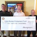 Rotary Bursary Endowment Fund Donation Feb 2012