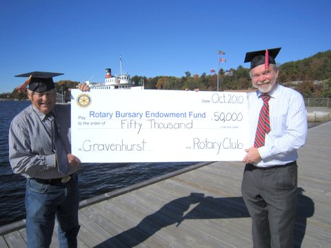 Rotary Bursary Endowment Fund Donation October 2010