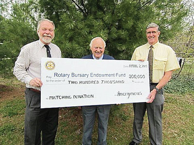 Rotary Bursary Endowment Fund Donation May 10, 2012