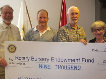 From left, Ken Little, Gord Tanner, Doug Tanner, Ann Tanner. Thanks for helping us acknowledge this substantial donation.